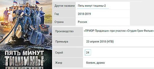 """""""Пять минут тишины"""", 3-й сезон: кто актеры, режиссер?"""