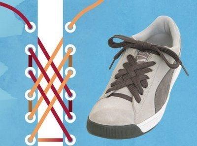 — Как оригинально зашнуровать обувь, способы шнуровки