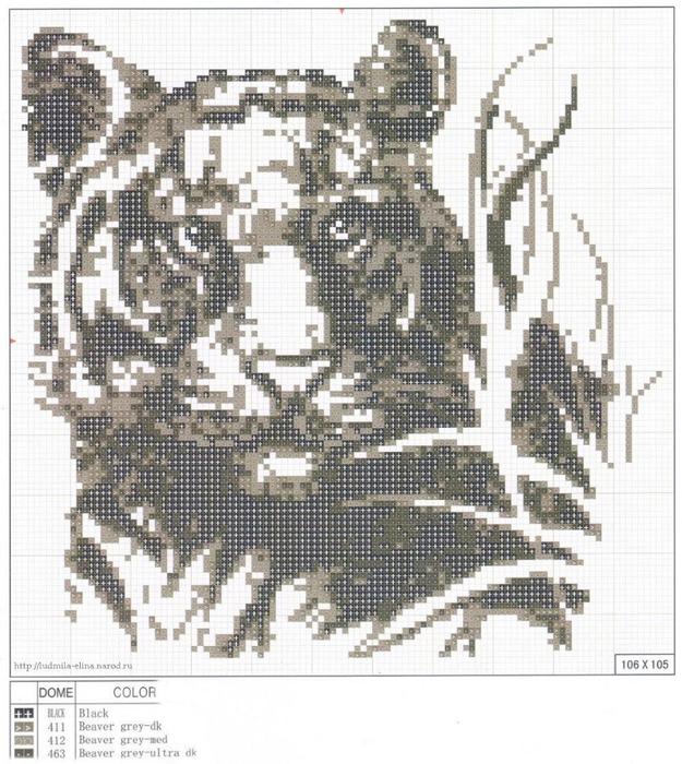 Картина тигра своими руками фото 925