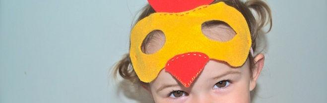 маска петуха, маска петуха из фетра, маска петуха из фетра своими руками