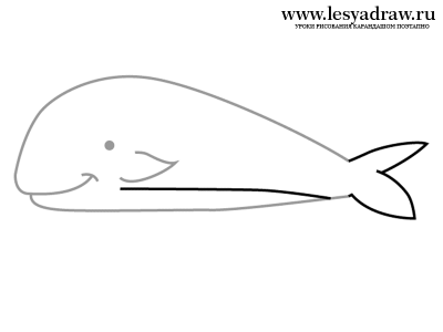 нарисовать кита
