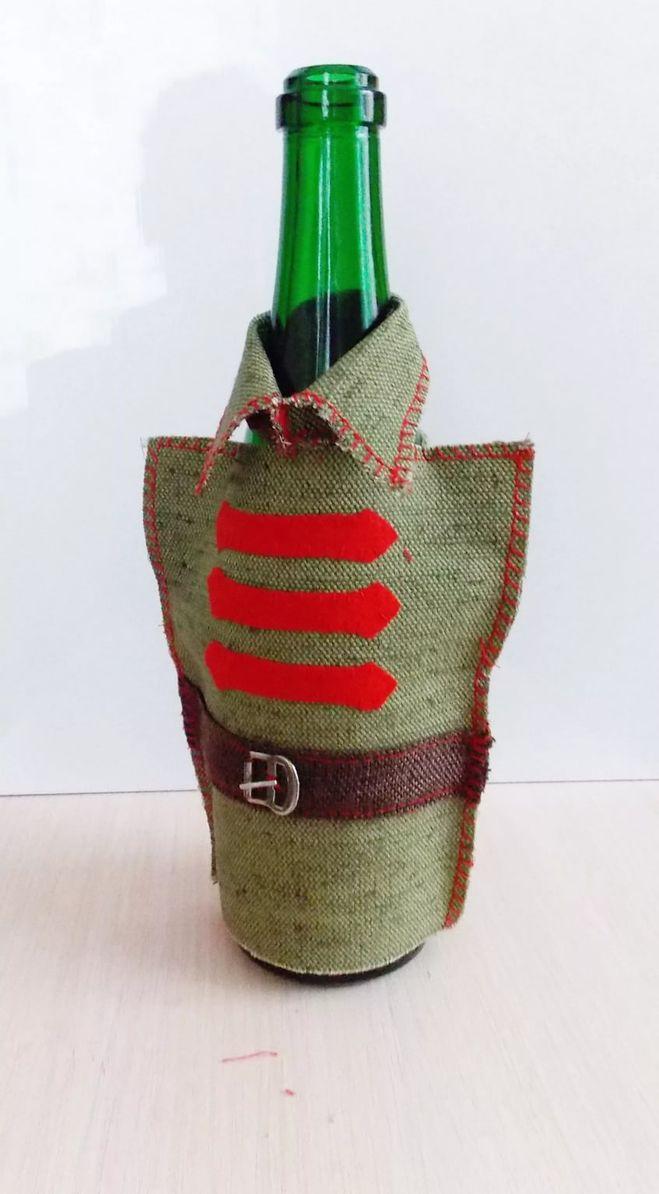 Украсить бутылку с коньяком своими руками