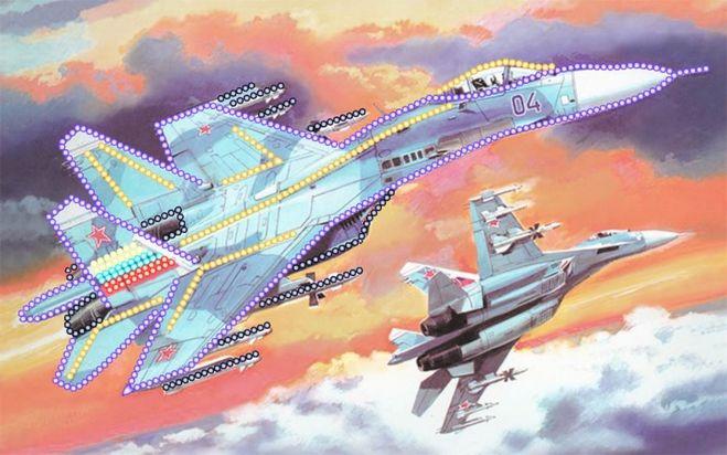вышивка бисером самолета своими руками схема