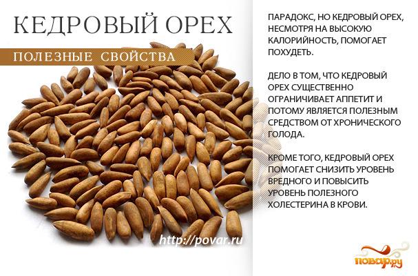 Кедровые орехи чем полезны от потенции