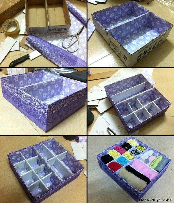 Украсить коробку из под обуви тканью своими руками