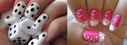 Рисунки на ногтях с помощью