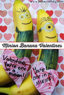 миньоны валентинки из бананов