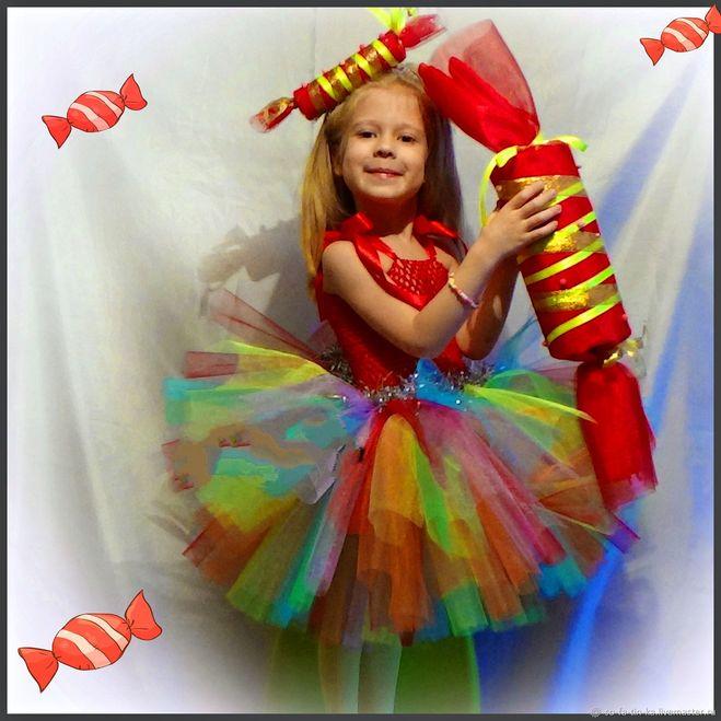 Картинки по запросу новогодний костюм конфетки своими руками