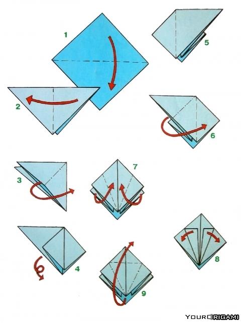 Как сделать японского журавлика оригами фото 557