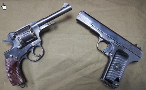 устройство пистолета и револьвера