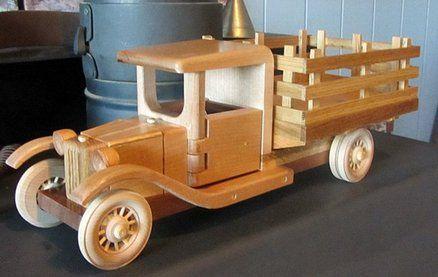 деревянная поделка грузовик