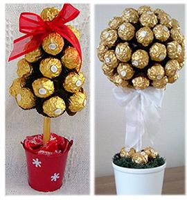 """подарок из конфет """"Фереро Роше"""" топиарий"""