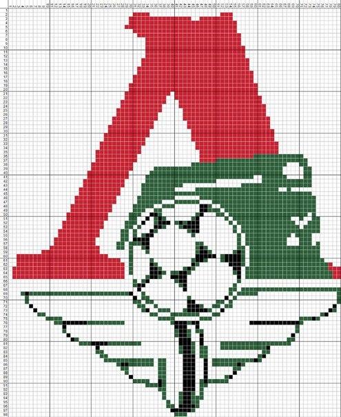 Вышивка крестом спортивные эмблемы 29