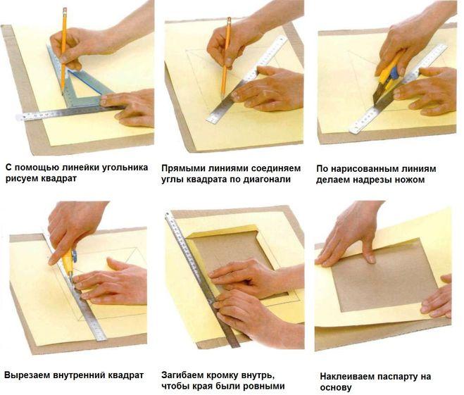 Как сделать паспарту на фотографию