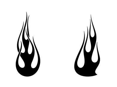 как рисовать огонь 1