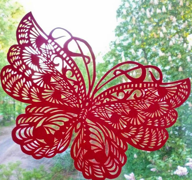 Бабочка ажурная из бумаги
