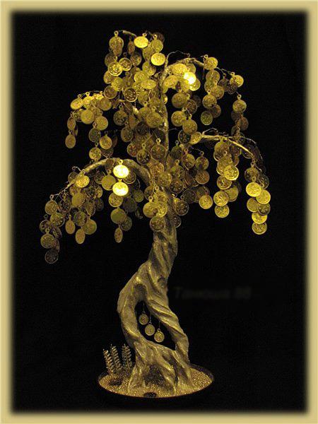 Видео своими руками денежное дерево из бисера