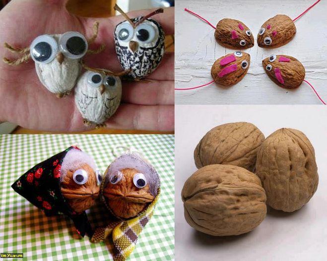 Поделки из ореховой скорлупы своими руками фото