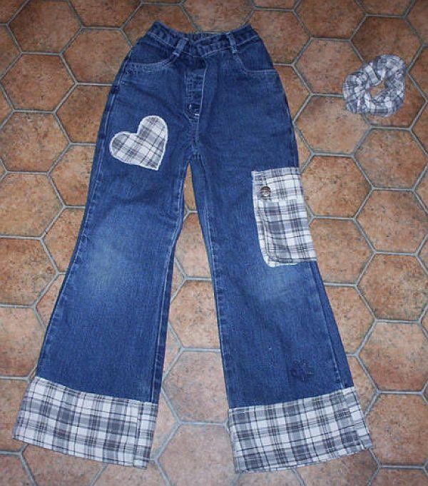 удлинить джинсы своими руками магазин