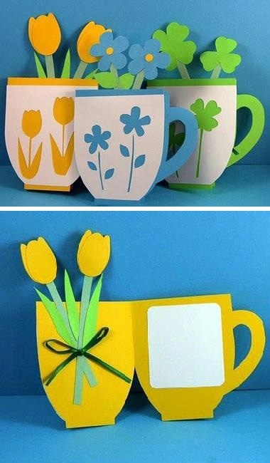 цветы из бумаги своими руками открытка