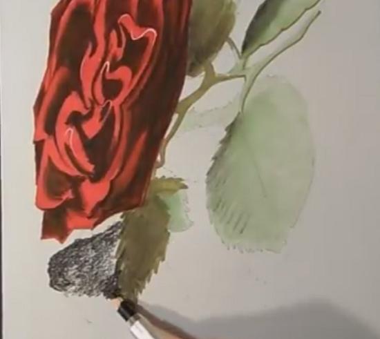 Как научиться рисовать 3д рисунки на бумаге карандашом поэтапно розу