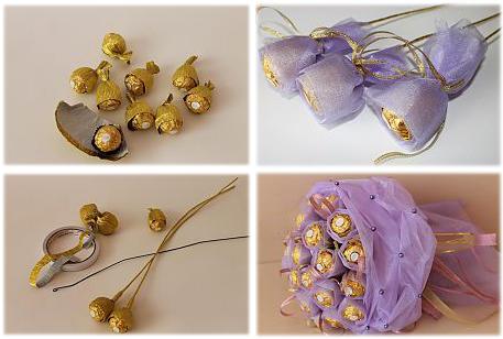 """подарок из конфет """"Фереро Роше"""" цветочный букет"""