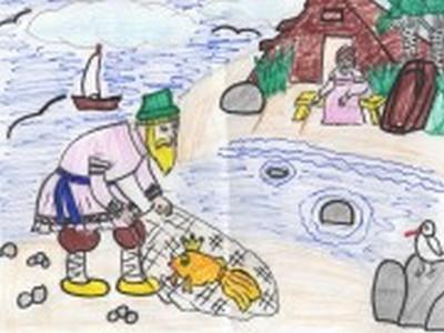 как нарисовать старика о рыбаке и рыбке