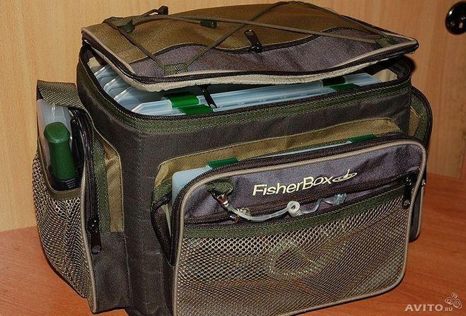 купить сумку рыболова с коробками