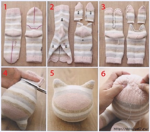 Игрушки из перчаток своими