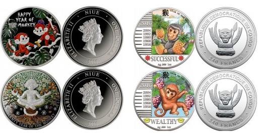 серебряные монеты 2016
