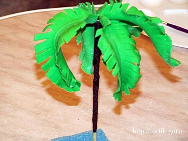 Как сделать пальму из мастики