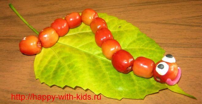 Детские поделки из фруктов и овощей своими руками