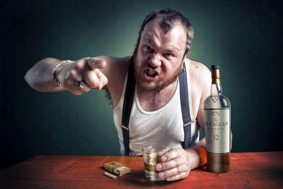пьяный мужчина