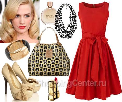 Платье красное на новый год купить