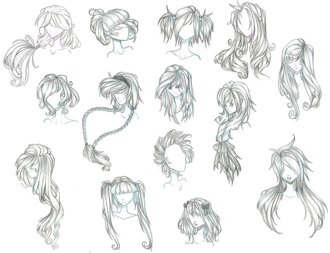 Как нарисовать волосы парня аниме