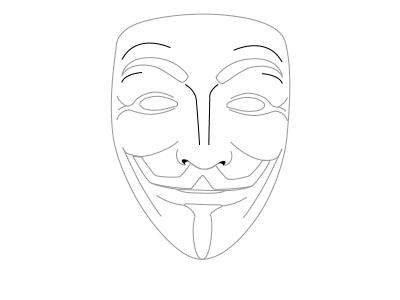 Карнавальная маска карандашом поэтапно