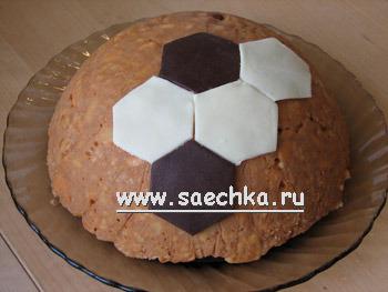 Торт футбольный мяч в домашних условиях пошаговый рецепт с фото