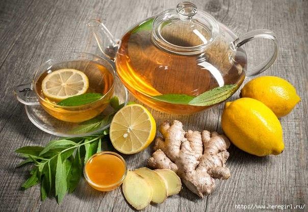 имбирный чай от простуды и гриппа