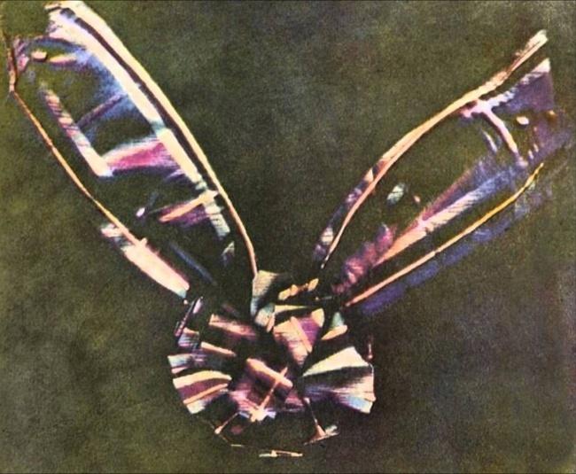 Первое цветное фото «Ленточка из шотландки»
