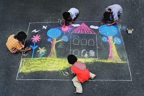Рисунок радуги детский