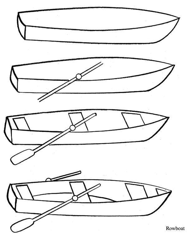 Научитесь рисовать лодки