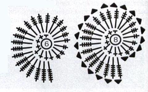 Ракушки схемы крючком