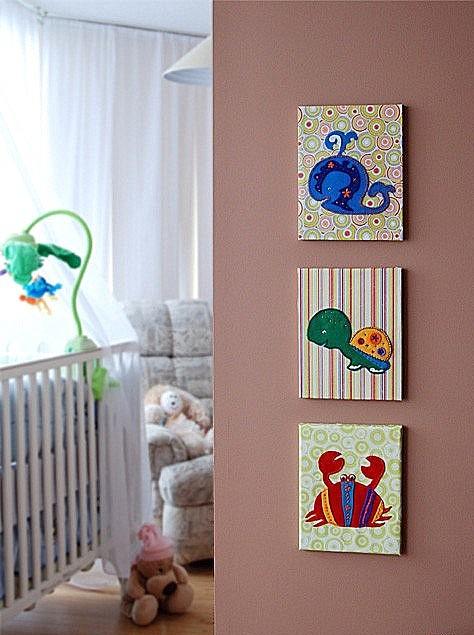 Картина своими руками для детской комнаты для