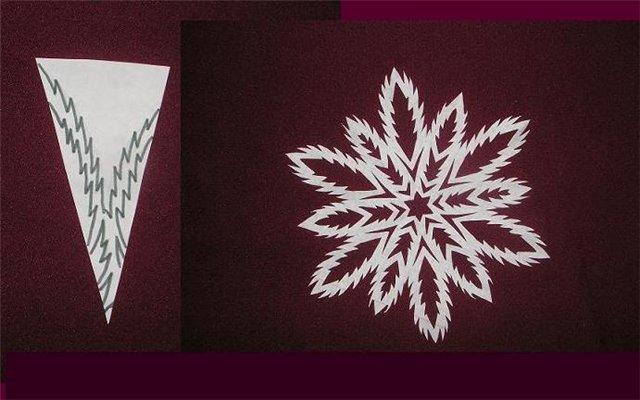 Новогодняя снежинка своими руками из бумаги фото
