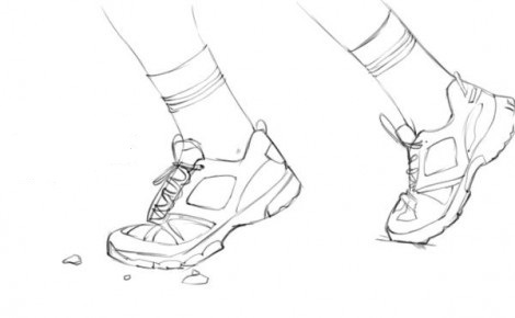 нарисовать кроссовки 3