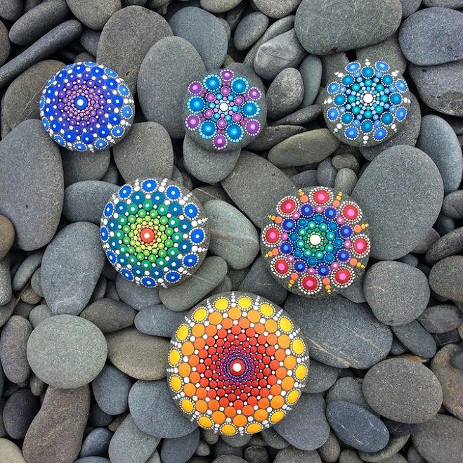 Как сделать точечную роспись камня своими руками