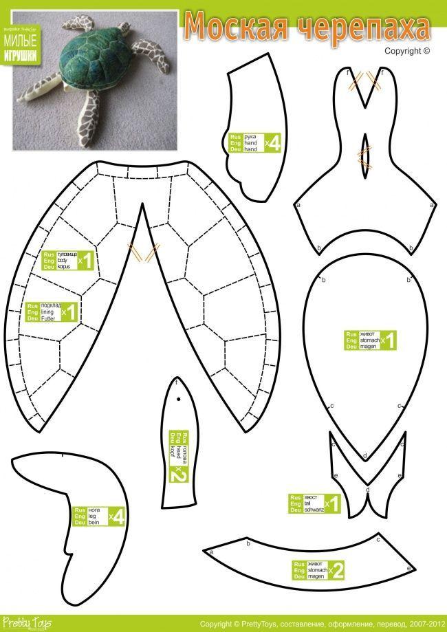 Мягкая игрушка черепашка ниндзя своими руками