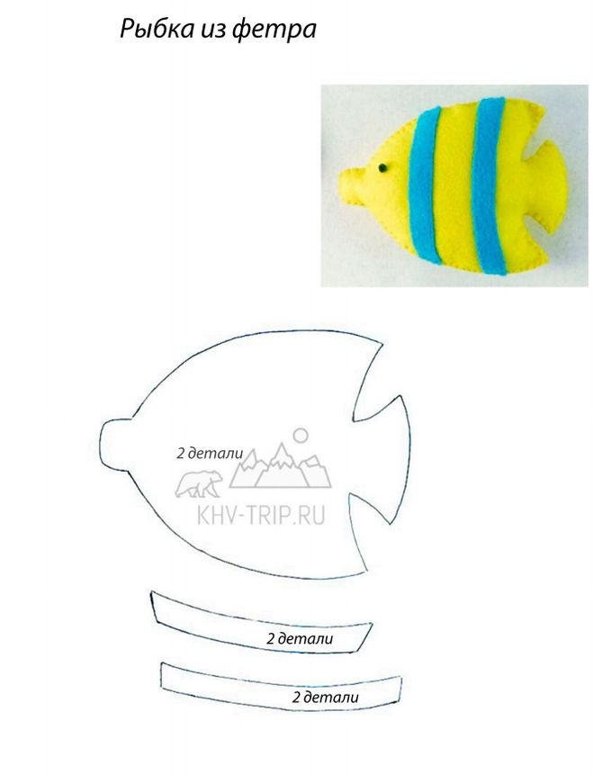 Подушка-рыба своими руками выкройки 64