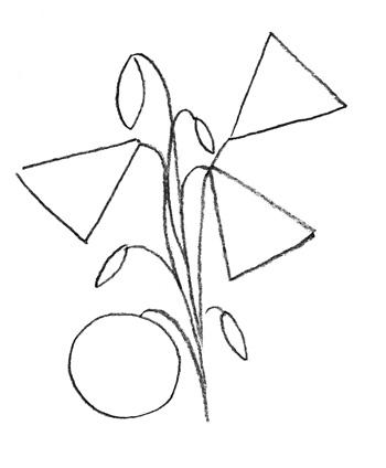 текст при наведении - колокольчик, рисование поэтапно