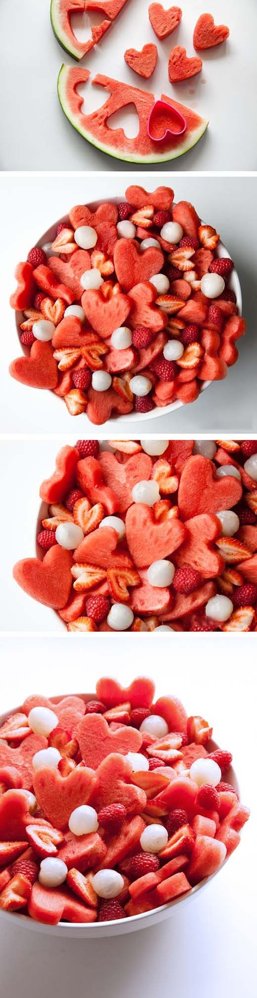 валентинка-сердечко из арбуза